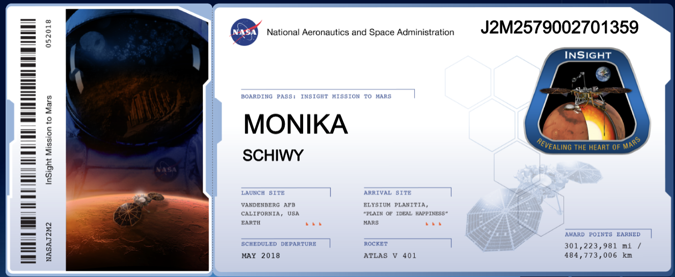 Boarding Pass Monika Schiwy via Mars